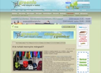 Greenfo hirdetési zónák